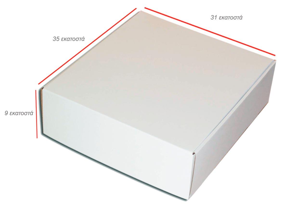 Κουτιά kraft ανοιγόμενο πολύ μεγάλο λευκό
