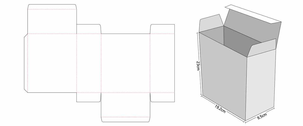 Κουτιά Συσκευασίας για eshop γραμμικό σχέδιο